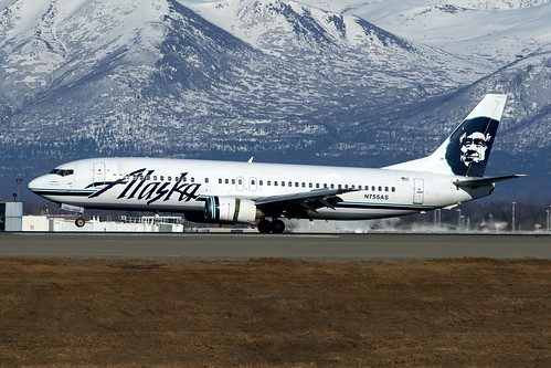 Alaska Airlines Boeing 737-400 N755AS