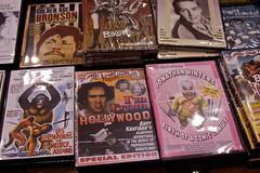 DVDs (earthdog) Tags: d50 booth table dvd video nikon wrestling nikond50 prowrestling btw wrestlefest newarkmemorialhighschool 2013 2802000mmf3856