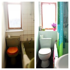One hundred. The before and after (sarahjanequinn) Tags: home bathroom renovation iphone project365