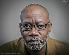 DH, 2013 (HTRM2) Tags: portrait man black male face canon beard glasses adult serious handsome jacket older africanamerican afroamerican scholar mustache professor spectacles 40s middleage middleaged distinguished 5d2 5dmkii htrmiller2