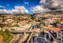 From Funchal cable car (genghis.postlethwaite (Adeus, the noo)) Tags: december cablecar madeira hdr funchal lightroom 2011 photomatix sigma1020 canon40d
