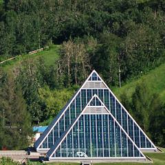 Pyramids Aligned (RandallTT) Tags: edmonton pyramid conservatory muttart