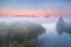 windmill and river with dense fog (Olha Rohulya) Tags: morning pink blue sunset red summer sky horse orange mist holland green nature water netherlands windmill dutch field silhouette misty fog rural sunrise fence river season landscape outside outdoors countryside early canal bush scenery silent view sundown farm air seasonal scenic meadow culture tranquility nobody nopeople calm farmland clear pony pasture silence groningen spiritual pastoral tranquil