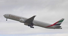 Emirates 777 (Dave Snowdon (Wipeout Dave)) Tags: new flying dubai aircraft aviation uae aeroplane emirates djs planespotting boeing777 newcastleairport egnt wipeoutdave canoneos1100d a6egk djs2012 davidsnowdonphotography