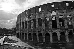 The Colosseum in black and white (Hazboy) Tags: italien vacation blackandwhite bw italy rome roma europa europe italia colosseum april coliseum rom itali  2013 litalie hazboy hazboy1 hazboyeuro