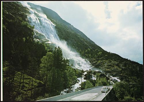 O-4-5 Norge: Langfoss, Åkrafjord. Ruten Haugesund - Odda