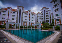 Aditya Hilltop, Hyderabad (| R | R | P |) Tags: pool architecture clouds swimming landscape apartment wide hyde aditya hyderabad hilltop rakesh rrp canon7d tokina1116mm rrpphotography rrpphotographhy