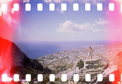 Maud - 21Sep12, Perissa (Greece) (]) Tags: light sea portrait sky woman cloud mer cute sexy film water girl beautiful beauty 35mm landscape island xpro lomography ruins eau mediterranean angle pano femme wide grand wideangle slide panoramic scan lightleak santorini greece ciel chrome beaut rocket maud 100 analogue 135 leak nuage paysage 35 vignettage vignetting santorin grce cyclades thira argentique ancienne panoramique sprocket diapositive ruines thera le diapo cran pellicule positif acient widelens mditranne grandangle ancientthera sprocketrocket anciennethira lomographyxprochrome100