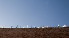 Shards of Glass, Medina Wall, Marrakesh, Morrocco (Steve Weaver) Tags: blue sky sun sunlight glass wall marakesh morocco medina shard shards marakech