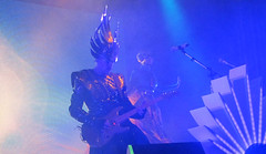 (goatling) Tags: music sun chicago dance costume dancing song stage band dancer sing empire sound instrument mic songs sounds intergalactic aragonballroom electropop headpiece empireofthesun lukesteele eots emperorsteele iceonthedune eots2013