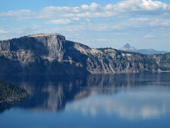 Crater Lake NP from Lake Lodge (18a) (moelynphotos) Tags: blue lake reflection oregon deep caldera craterlake nationalparks craterlakenationalpark volcaniclake moelynphotos