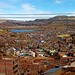 Peru, Puno,  urban scape with a bit of lake Titicaca #Ρeru