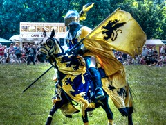 A Knight in HDR (RLD73) Tags: show uk horse demo lumix view medieval panasonic knight jousting hdr hertfordshire ashwell fz150 knightsofmiddleengland