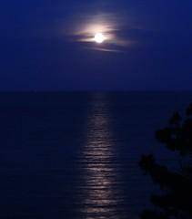 Bagheria, Capo Zafferano (Giovanni Valentino) Tags: mare luna capo piena sicilia bagheria zafferano aspra mongerbino
