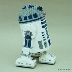 nanoblock R2-D2 (inanoblock) Tags: toy toys star robot starwars bricks lucas r2d2 jedi blocks wars build buildingblocks nanoblock  nanoblocks