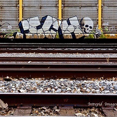 Ichabod (INTREPID IMAGES) Tags: street railroad color art train bench circle t skull graffiti fan fry paint steel painted sony graf stock tracks rail railway trains tags images 63 yme railcar intrepid writer boxcar graff ich freight rolling ichabod itd sfl gr8 paintedtrains benching railer autoraxx intrepidimages