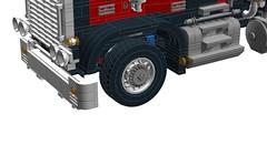 5571 Black Cat - Legacy Version! (RS 1990) Tags: truck silver blackcat mod lego 1996 version semi chrome features legacy added enhanced modelteam moc 2016 ldd cuusoo 5571 digitaldesigner brickwild