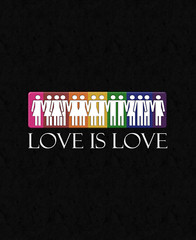 Love is Love - LGBT Equality (liveloudgraphics) Tags: gay wedding love legalize rainbow marriage glbt pride lgbt homosexual queer equality samesex doma homosexuality loveislove