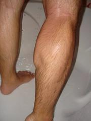 DSC03858 (openminded4fun) Tags: hairy man male wet shower bath husky legs body muscle bathing chubby calf showering