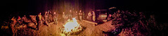 Last night dance party around the bonfire (arthurhs) Tags: panorama texas unitedstates climbing bonfire elpaso bouldering huecotanks hueco iphone5 huecorockranch adventuresinpebblewrestling
