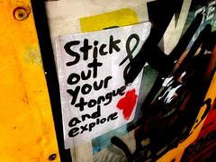 Stick out your tongue (-Curly-) Tags: streetart art graffiti sticker stickerart curly