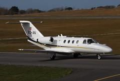 EC-JIU Cessna 525 CitationJet CJ-1 (Guernsey Airport Photography) Tags: guernseyairport cessna525citationjetcj1 skyhelicopteros ecjiu