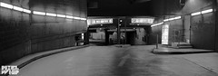 underground city carpark in IR B&W pano- (pixelwhip) Tags: park bw panorama car 35mm ir entrance shift melbourne infrared modified carpark tilt f28 ts entry fd whitenight 2014 tiltshift eosm superblue