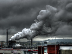 Arcelor, Avils (ccc.39) Tags: fog smoke pollution nubes chimeneas industria humo hdr avils fbrica contaminacin arcelor blinkagain bestofblinkwinners vision:sky=0929aviles