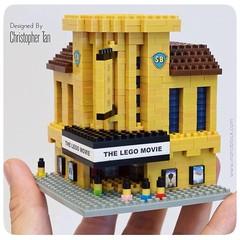 nanoblock Vintage Shaw Cinema (inanoblock) Tags: cinema movie bricks blocks custom build shaw kawada nanoblocks nannoblock