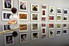 at the photo exhibition (photoholic image) Tags: woman reflection gallery image picture photograph kimono grandpiano photoexhibition xf18mmf2r fujifilmxt1