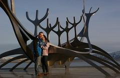 Slfar Portrait (Hayden Watkins) Tags: sculpture sun water iceland sony explorer front reykjavik 350 voyager alpha slfar caty a350