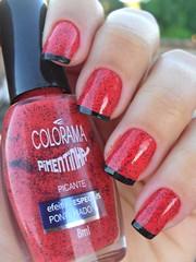 Picante - Colorama + Francesinhas (Lais Eustquio) Tags: coral nail vermelho bolinhas picante unha pos esmalte colorama francesinha pimentinha pulguento inglesinhas pulguinhas