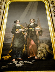 Francisco de Goya - Santa Justa y Santa Rufina, 1817 in Capilla de los Clices at Sevilla Cathedral - Seville Spain (mbell1975) Tags: santa church abbey saint night de hotel see los sevilla spain francisco catholic museu y cathedral roman dom mary von kathedrale catedral kirche chapel du seville muse musee m notredame cathdrale spanish espanol museo andalusia notre dame goya mara sede sville muzeum sige justa kirke kapelle capilla basilic mze 1817 rufina bcquer museumuseum clices