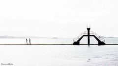 Plongeoir - Saint Malo (Franois Quru) Tags: ocean sea mer france pool saint canon french landscape eos brittany bretagne diving breizh highkey paysage minimalist saintmalo malo breton piscine bzh swimingpool divingplatform minimaliste plongeoir 600d hautebretagne