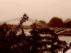 Passerelle Debilly Paris (Ivannia E) Tags: paris france sepia europa europe pont francia parís sena laseine passerelle debilly pasareladebilly