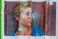 affiche (yannickbenassi) Tags: impact miroir profil affiche regard papierdéchiré panasonicdmcfz200 projetsolidarité