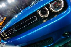 Haven't we met somewhere before? (GmanViz) Tags: color detail car automobile detroit headlights bumper flare dodge grille challenger naias 2015 gmanviz