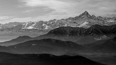 The king of rock B&W (erripollo) Tags: winter wild blackandwhite bw italy panorama cloud white mountain snow black nature rock landscape torino blackwhite italia nuvole cloudy january natura piemonte neve alpi montagna valsusa monviso valledisusa