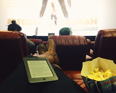 35/365 (moke076) Tags: portrait feet me oneaday mobile self movie book big chair boots theatre seat cellphone cell screen yelp popcorn photoaday 365 amc phipps recliner iphone selfie privilege 2015 kingsman kindle witing project365 365project vsco vscocam becomeakingsman