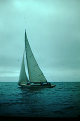 Sailing (32) (foundslides) Tags: johnrudd kodachrome foundslides vintage oldphoto oldphotos retro oldpictures old pix pics photography redborder slides irmalouiserudd analog slidecollection irmarudd