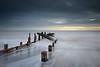 Rush (Draws_With_Light) Tags: winter sea beach water sunrise season landscape seaside structures places scene coastline filters groynes spurnhead lee09ndhardgrad leelittlestopper
