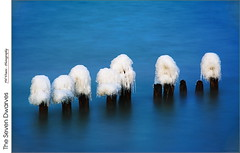 The Seven Dwarves (jwvraets) Tags: longexposure winter ice nikon hamilton gimp pilings lakeontario opensource stoneycreek grimsby groynes nd10 d7100 fiftypointconservationarea rawtherapee fiftypoint nikkor18105vr 50point