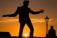 River and the Sun (Paul-Farrell) Tags: sunset silhouette statue liverpool canon golden skies singer rocknroll albertdock merseyside scouse rivermersey 24105mm 70d billyfury paulfarrell fagsy63