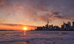 Frigid Toronto Sunset