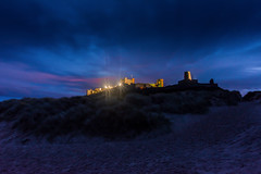 Back of Bamburgh Castle at night (haywardk49) Tags: uk england people raw nef yorkshire wideangle northumberland d750 jpg fullframe scotish stotland