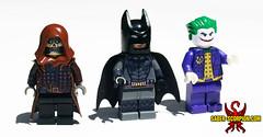 Batman Arkham Minifigs (Saber-Scorpion) Tags: comics dc lego scarecrow batman joker minifig superheroes moc minifigures