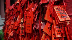 Red (Vic's pix original) Tags: china red temple chinese wishes hangzhou fortunes