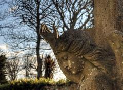 Angel, Alderney (neilalderney123) Tags: light graveyard angel hand olympus alderney 2016neilhoward