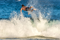 Ejected - Tallow Beach Surfers (sbyrnedotcom) Tags: blue sea beach sports surf waves action australia surfing nsw surfers tamron byronbay tallowbeach