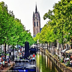 20 minutes by train from Rotterdam is charming little Delft with its very own leaning tower... #travel #visitdelft #visitholland (DriftersGuide) Tags: travel visitholland visitdelft